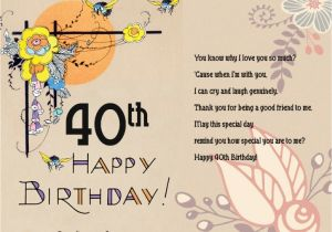 Message for 40th Birthday Card 40th Birthday Greeting Card Messages Best Happy Birthday