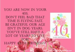 Message for 40th Birthday Card 40th Birthday Wishes 365greetings Com