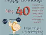 Message for 40th Birthday Card Happy 40th Birthday Wishes