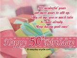Message for 50th Birthday Card 50th Birthday Wishes Easyday