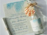 Message In A Bottle Birthday Invitations Palm Leaves Invitations Mospens Studio