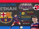 Messi Birthday Invitations Digital Invitation for Fc Barcelona soccer Messi Birthday