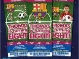 Messi Birthday Invitations Fc Barcelona Birthday Invitation Card Barcelona by