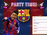 Messi Birthday Invitations Fc Barcelona Custom Birthday Invitation Printable Digital