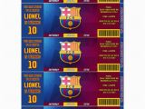 Messi Birthday Invitations Fc Barcelona Team Messi or Neymar Birthday by