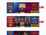 Messi Birthday Invitations Fc Barcelona Team Messi or Neymar Birthday Invitation soccer