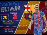 Messi Birthday Invitations Messi Customized Invitation Messi Birthday Invitation