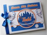 Mets Birthday Card Ny Mets Birthday Guest Book Personalised Memory Book 39 1st