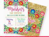 Mexican themed Birthday Invitations Fiesta Birthday Invitation Mexican Fiesta Invitation Mexican