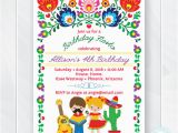 Mexican themed Birthday Invitations Kids Fiesta Birthday Invitation Children 39 S Mexican Fiesta