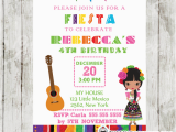 Mexican themed Birthday Invitations Mexican Fiesta Invitations Personalized Cupcakemakeover