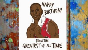 Michael Jordan Birthday Card Michael Jordan Happy Birthday Card Air by Letmedrawyourpicture