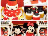 Mickey and Minnie Birthday Decorations Kara 39 S Party Ideas Mickey Minnie Mouse themed Birthday Party