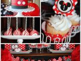 Mickey and Minnie Birthday Decorations Kara 39 S Party Ideas Mickey Minnie Mouse themed First