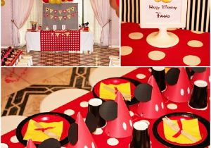 Mickey and Minnie Birthday Party Decorations A Retro Mickey Inspired Birthday Party Party Ideas