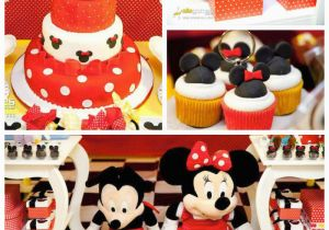 Mickey and Minnie Birthday Party Decorations Kara 39 S Party Ideas Mickey Minnie Mouse themed Birthday Party