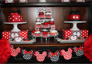 Mickey and Minnie Birthday Party Decorations Mickey Minnie Mouse Party Lillian Hope Designs