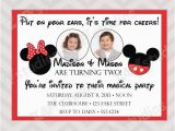 Mickey and Minnie Joint Birthday Party Invitations Items Similar to Mickey and Minnie Mouse Twins Joint