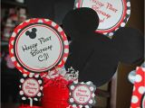 Mickey and Minnie Mouse Birthday Decorations Kara 39 S Party Ideas Mickey Minnie Mouse themed First
