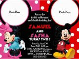 Mickey and Minnie Mouse Birthday Invitations for Twins 17 Best Images About Mickey Minnie Party On Pinterest