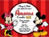 Mickey and Minnie Mouse Birthday Invitations for Twins Mickey and Minnie Mouse Birthday Invitations Bagvania