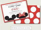 Mickey and Minnie Mouse Birthday Invitations for Twins Mickey and Minnie Twin Birthday Invitations