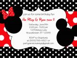 Mickey and Minnie Mouse Birthday Invitations for Twins Minnie and Mickey Invitation orderecigsjuice Info