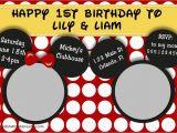 Mickey and Minnie Twin Birthday Invitations Disney 39 S Mickey and Minnie Twins Birthday Invitation