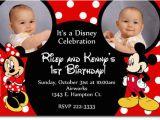 Mickey and Minnie Twin Birthday Invitations Free Printable Mickey and Minnie Twin Birthday Invitations