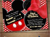 Mickey and Minnie Twin Birthday Invitations Huge Selection Mickey Mouse Invitation for Twins Minnie