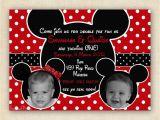 Mickey and Minnie Twin Birthday Invitations Mickey and Minnie Mouse Twin Birthday Party Invitation