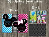 Mickey and Minnie Twin Birthday Invitations Mickey Mouse and Minnie Mouse Custom Digital Birthday