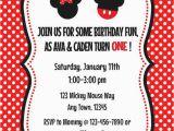 Mickey and Minnie Twin Birthday Invitations Minnie and Mickey Invitation orderecigsjuice Info