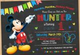 Mickey Mouse 1st Birthday Invites Mickey Mouse Birthday Invitation Mickey Mouse Clubhouse