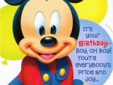 Mickey Mouse Birthday Greeting Cards Disney Mickey Mouse 1st Birthday Greeting Card On Popscreen