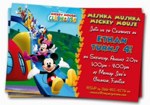 Mickey Mouse Birthday Invitations Online Free Clubhouse 1st