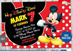 Mickey Mouse Birthday Invitations Online Free Invitation Template Ideas