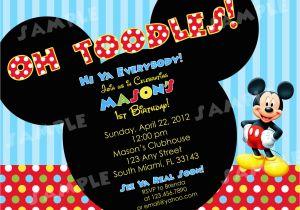 Mickey Mouse Birthday Invitations Online Free Printable Invitatons Drevio