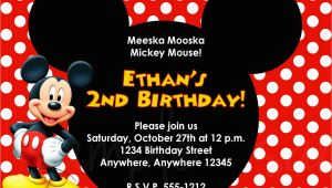 Mickey Mouse Birthday Invitations Online Mickey Mouse Birthday Invitation