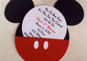 Mickey Mouse Birthday Invitations Walmart Cartoon Invitation