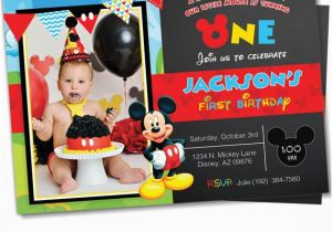 Mickey Mouse Birthday Invitations Walmart Invitation Clubhouse Invite