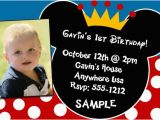 Mickey Mouse Birthday Invitations with Photo First Birthday Mickey Invitation orderecigsjuice Info
