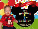 Mickey Mouse Birthday Invitations with Photo First Birthday Mickey Mouse Invitations Best Party Ideas