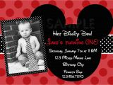 Mickey Mouse Birthday Invitations with Photo Free Printable 1st Mickey Mouse Birthday Invitations