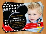 Mickey Mouse Birthday Invitations with Photo Free Printable Mickey Mouse Birthday Invitations with