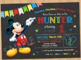 Mickey Mouse Birthday Invitations with Photo Mickey Mouse Birthday Invitation Mickey Mouse Clubhouse