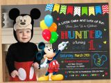 Mickey Mouse Birthday Invitations with Photo Mickey Mouse Clubhouse Invitations for Special Birthday
