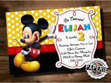Mickey Mouse Birthday Invitations with Photo Mickey Mouse Invitation Template 23 Free Psd Vector