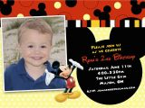 Mickey Mouse Birthday Invitations with Photo Mickey Mouse themed Birthday Invitations Best Party Ideas