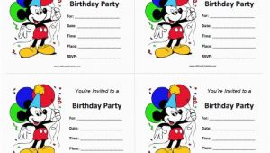 Mickey Mouse Birthday Invites Free Printable Mickey Mouse Birthday Invitations Free Printable